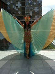 Belly dancing at the BBC and Mailbox